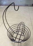 Fruit Hanger Bowl Banana Grape Metal Chrome Wire Kitchen Basket