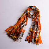 High Quality Custom Printing Wool Cashmere Scarf Shawls