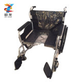 Chinese Wheelchair Price Commode Wheelchair with Double-Hand Brake ISO 9001