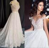 Custom Fashion Ladies Girl Fashion Lace Beaded Bridal Gown Evening Prom Evening Wedding Dress CZ5506