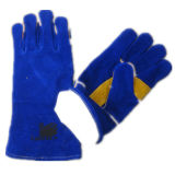 Cow Split Leather Palm Welding Work Glove--6535