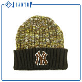 Hogift Custom Unisex Embroidery Winter Beanie Hat