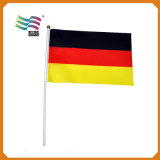 Huiyi Factory 50cm Plastic Pole Polyester Hanging Held Flag