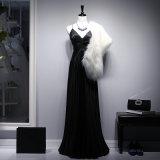 Dress Customization Elastic Butyl Real Silk Deep V Long Evening Dress