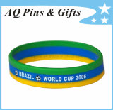 Wholesale Fashion Cheap Custom Silicone Bracelet with Segmented Color for Promotion/Promotional Events