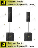 Professional Modular Line Array Speaker Dual 4.5'' Three-Way Full Range Column Speaker PA Speaker Sound System