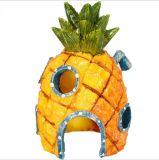 New Design Artificial Mini Pineapple House Aquarium Ornament
