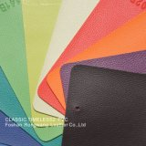 PU/PVC Litchi Lines Elastic Cloth Series Leather for Furniture, Car Seat, Bags and Shoes