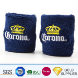 High Quality Cheap Custom Logo Printing Embroidery Marathon Football Sport Rainbow Elastic Comfortable Absorb Sweat Terry Cloth 100% Cotton Fabric Wristband Set