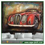 3D Iron Oil Car Painting Wall Art for Home Decoration