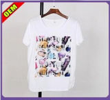 Fashion Nice Printed T-Shirt for Women (W217)