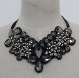 Luxury Bead Crystal Fashion Costume Jewelry Necklace (JE0085)