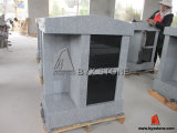 2 Niche Grey Granite Columbarium with Shanxi Black Doors