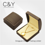 Light Brown PU Leather Storage Packaging Earing Pendant Jewelry Box
