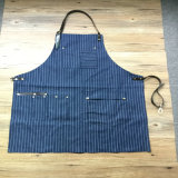 Striped Denim Work Wear Uniform Work Clothes Mechanic