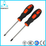 Non-Slip Soft Handle Cr-V Steel Screwdriver