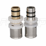F5 Brass Press Fitting for Pex-Al-Pex Multilayer/Composite Pipe (PAP) with U/Th Jaws
