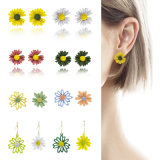 Daisy Flower Stud Earrings and Drop Earring Fashion Jewellry