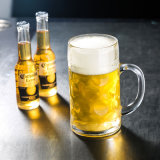 Transparent Glass Beer Mug with Handle