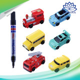 Creative Magic Toys Electronic Mini Inductive Cars Truck Tank Toys with Drawing Pen for Children′s Gifts