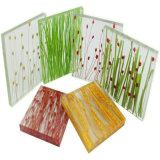 Decorative Handmade Organic Toughened Laminated Glass
