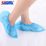 Machine Made Blue Disposable Shoe Cover