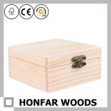 DIY Unfinished Raw Wooden Jewelry Box Wooden Box Gift Box