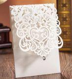 Gold/Silver/Black/Light Gold/Rose Gold Glitter Paper Rose Flower Laser Cut Hollow Wedding Invitation Greeting Card Cover