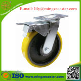 Double Brake PU Caster