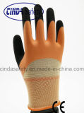 Doubled Coated, Sandy Outer, Motor Work Latex Gloves