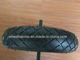 3.50-4 Rubber Trolley Wheel Tire with Steel Rim Wheelbarrow Tyre
