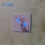 White Panel Light Switch Waterproof Crystal Glass Panel Touch Switches Elegant Flower Design Hotel Switch