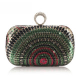 Quality Party Box Bag Women Fashion Sequin Ring Clutch Bag