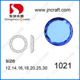 Decorative Blue Round Crystal Glass 1021 Rhinestones Beads for Evening Dress