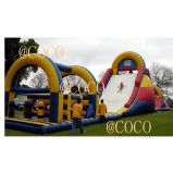 Giant Inflatable Jumping Bouncer Slide, Inflatable Obstacle Course Bouncer Slide for Adults and Kids
