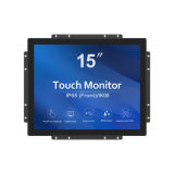 15inch Full Flat Capacitive Touchscreen Monitor Pacp Touch Display HDMI Dp VGA DVI USB Interface Touch Monitor for Payment Touch Kiosks