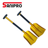 Sanipro Shovel for Snow Removal Collapsible New Design Metal Portable Snow Shovels Aluminum Folding Snow Shovels