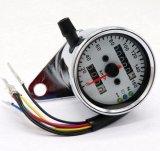 Silver Motorcycle Dual Odometer Speedometer Gauge 0-160km/H LED Backlight Light