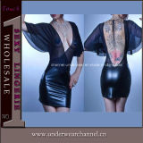 China Wholesale Designs Mini Fashion Leather Party Cocktail Dresses (TGP850)