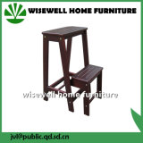 2 Step Folding Wooden Step Stool