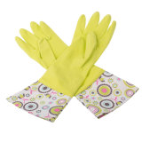 Size M Reusable Household Gloves Rubber Dishwashing Gloves, Extra Thickness, Long Sleeves, Kitchen Cleaning, Working