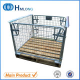 Storage Stackable Wire Cage with Wooden Pallet