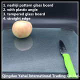 4mm Nashiji Pattern Glass Placemat with Plastic Angle