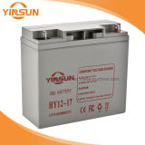 12V 17ah Rechargeable Gray Solar Battery for Alarm System