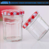 Embosseed Pattern Glassware Jam Jar for Food Storage (JH-2307)