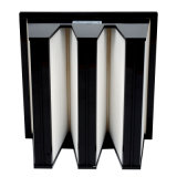 Ventilaton Mini Pleat Compact V Bank HEPA Filter for Vacumn Cleaner