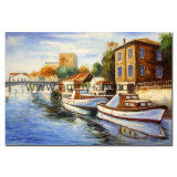 Wholesale Handmade Mediterranean Landscape Oil Painting for Gallery