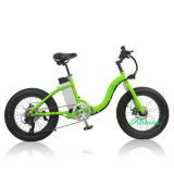 8fun Motor 48V 350W Fat Tire Beach Cruiser Foldable Electric Bike