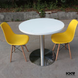 2 Seater Round Solid Surface Restaurant Dining Table