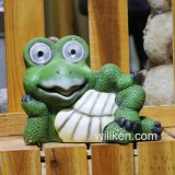 Handmade Garden Decoration Tortoise Statue with Solar Light for Outdoor Use